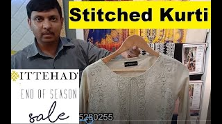 Original Ittehad Lawn Stitched Kurti Sale Upto 30% Off & New Arrival 2020