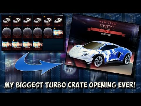 STRIKER CERTIFIED ENDO! | OPENING OVER 50 TURBO CRATES IN ROCKET LEAGUE + TRADE UPS