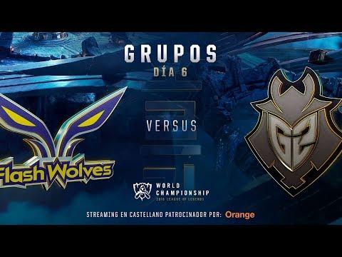 FLASH WOLVES VS G2 | WORLDS GRUPOS | DÍA 6 | LEAGUE OF LEGENDS WORLDS (2018)