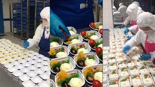 Now that's fast food: In-flight meals of Chinese airline in 30 seconds