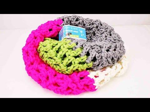 Lochmuster häkeln Anleitung – Schal einfach häkeln mit Halnut Cool Wolle