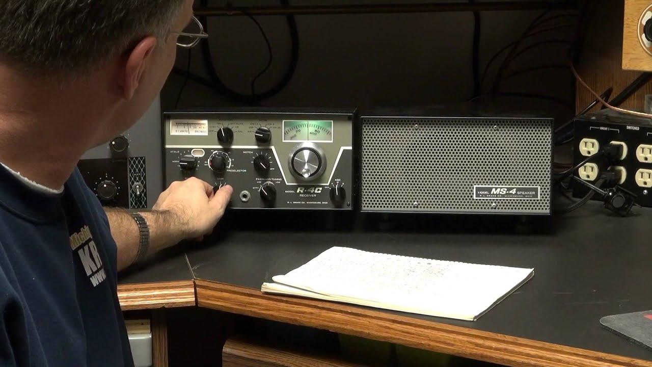 D-lab Drake R-4c Ham Tube Receiver Audio Modification Demo