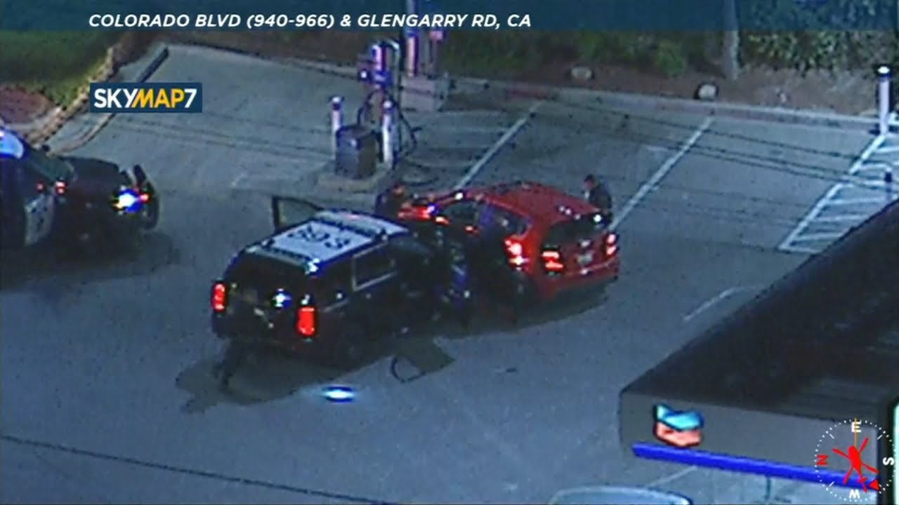 Download CHP smash into suspect's car to end chase through LA   ABC7