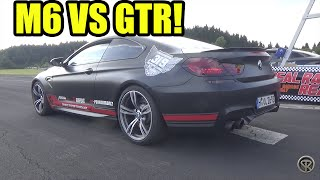 bmw m6 pp performance vs nissan gtr