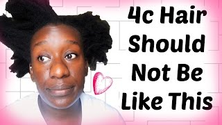 Mistakes You Should Not Make on 4c Natural Hair: Causes Knots & Breakage #NapChat
