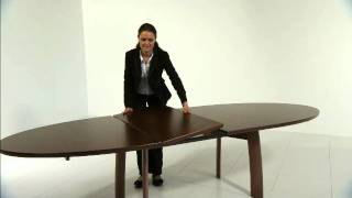 Danish Living Oval Dining Table Product Demonstration From Wharfside