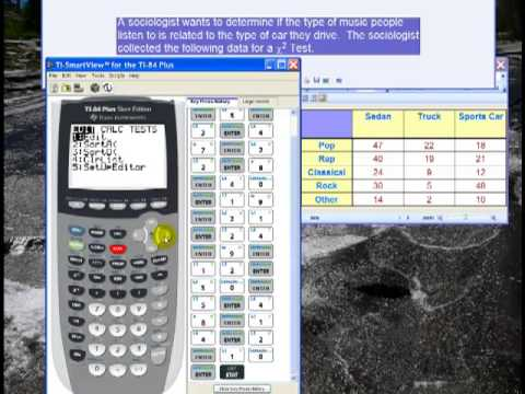 how to do chi square test on ti 84