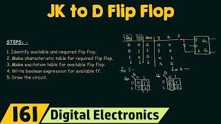 D Flip Flop Dönüşüm için Flip Flop Dönüşüm | JK için 5 Adım
