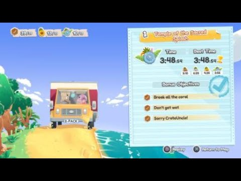 [Moving Out - Movers in paradise DLC] Platinum medal #9 - Temple of the Sacred Splash (Solo) |