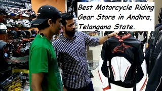 best motorcycle riding gear store in andhra telangana state
