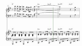 ブラジル Aquarela do Brazil for Piano Duo [MIDI/Score 楽譜]