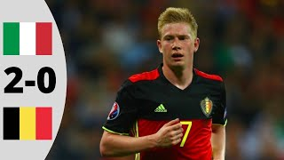 Belgium vs Italy 0-2 | Goals And Highlights