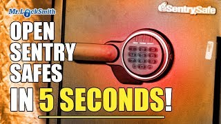 Open Sentry Safe in less than 5 seconds!   Mr. Locksmith™ Video