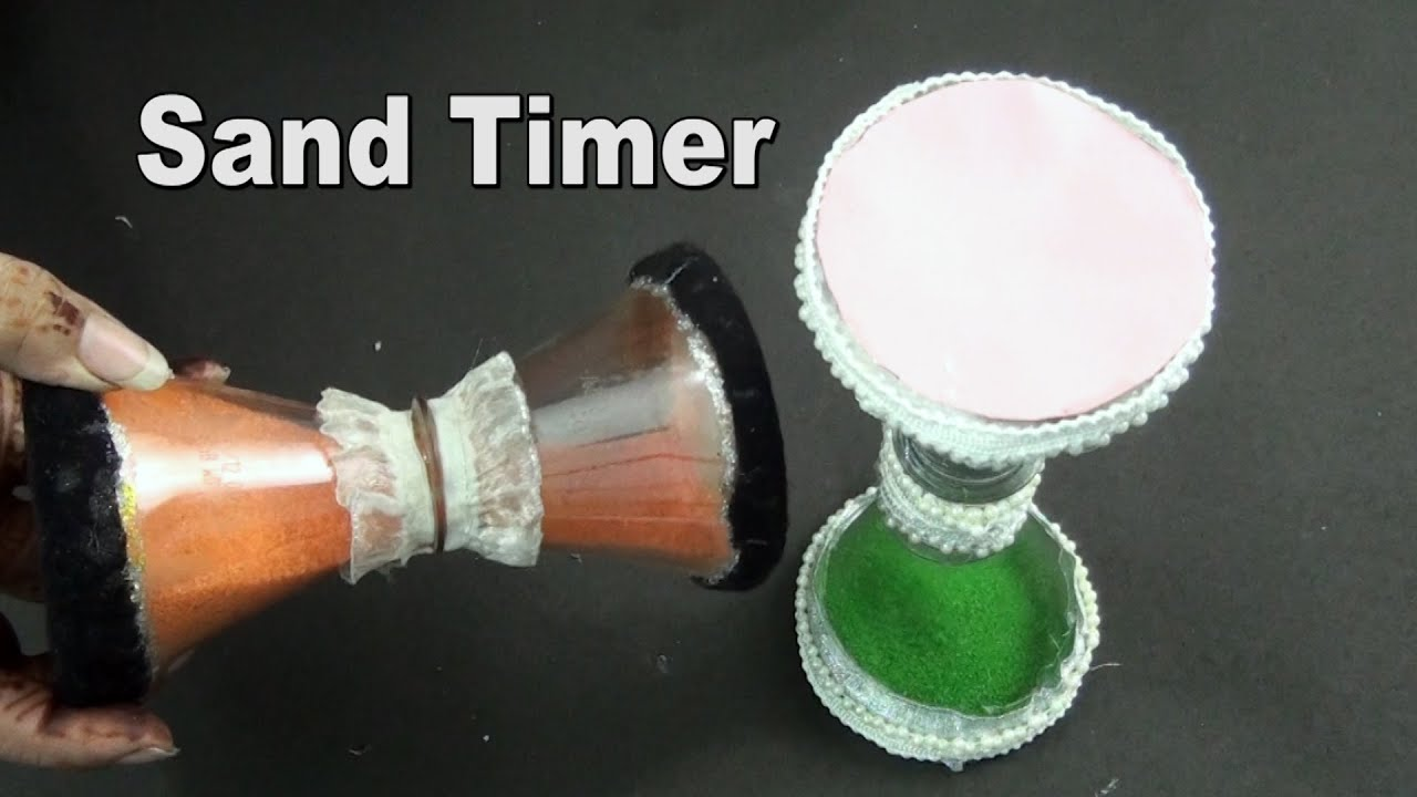 Diy sand timer using plastic bottle best out of waste for Best out of waste easy