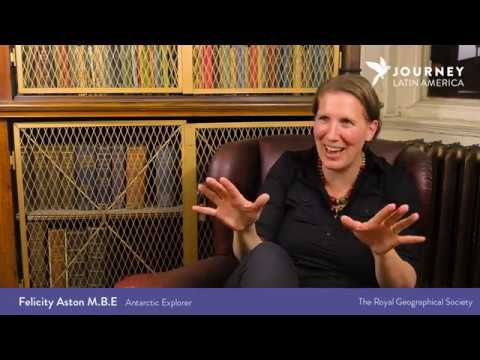 Interview with Felicity Aston MBE at The Royal Geographical Society, London