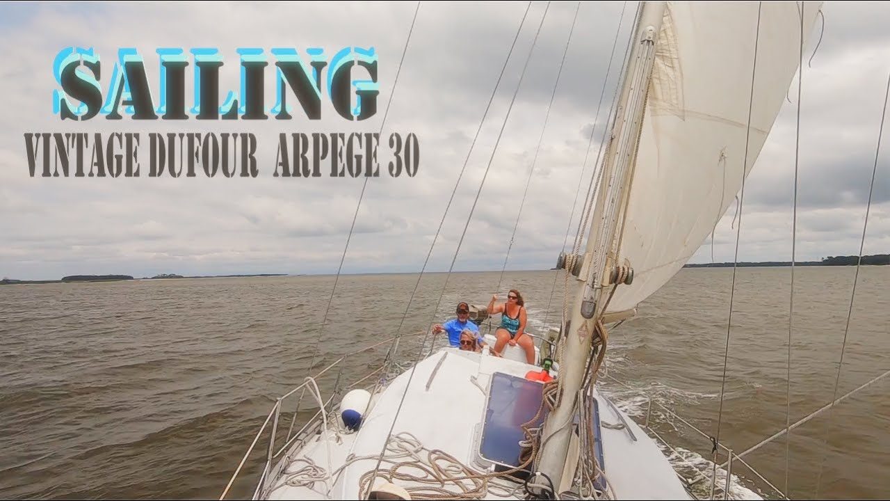 SAILING on the MORGAN RIVER in BEAUFORT SC on a DUFOUR ARPEGE 30
