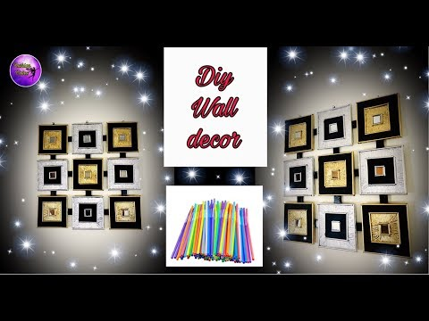 DIY wall decor idea  | Living room decor idea | wall art | Fashion pixies