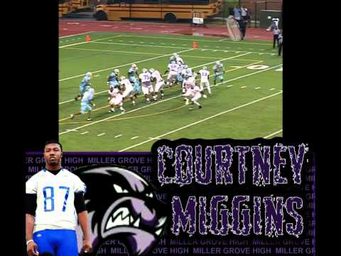Courtney Miggins football highlight