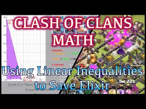 Clash of Clans Math - Saving Elixir by Using Linear Inequalities Part 2