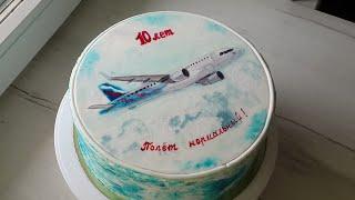 Торт Самолёт | Примеры оформления торта