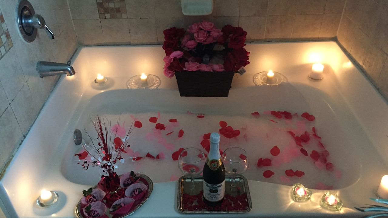 A Romantic Valentine S Spa Date Night At Home Youtube