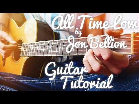 All Time Low by Jon Bellion Guitar Tutorial // Guitar Lessons for Beginners (4K!)