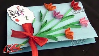 DIY Paper Quilling Greeting Card For Mother's Day / Teacher's Day |  JK Arts 194