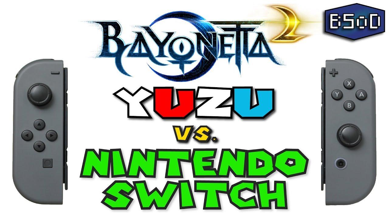Bayonetta 2 | Yuzu Emulator vs Nintendo Switch - A Visual Comparison  [Gameplay]