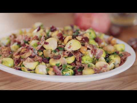 Clodagh McKenna's Brussel Sprouts With Cranberries, Pancetta And Chestnuts