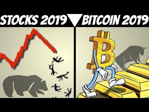 Bitcoin And Stock Market Prediction For 2019 & (2018 Recap Performance)