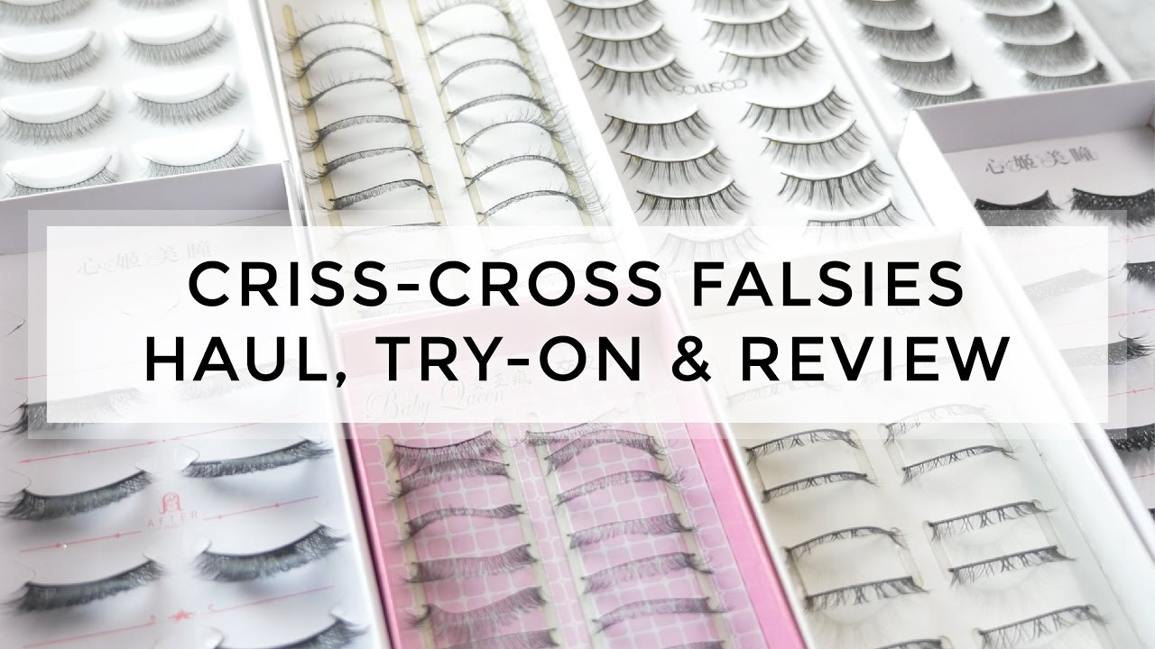 Huge Lash Haul Try On Review Japanese Criss Cross Styles On