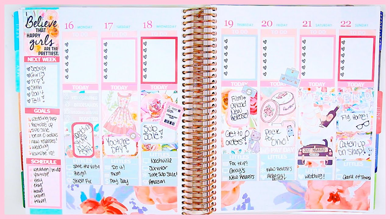 Plan with me glam planning 101 youtube for Plan me