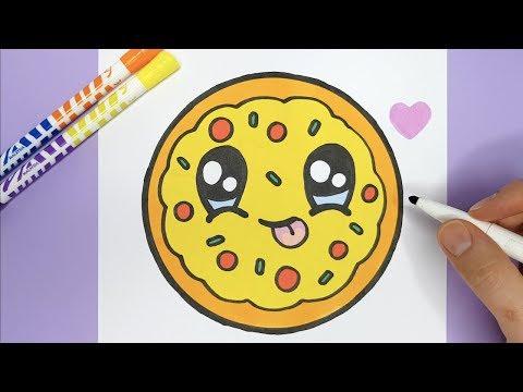 Kawaii PIZZA Zeichnen Und Malen - Kawaii Bilder