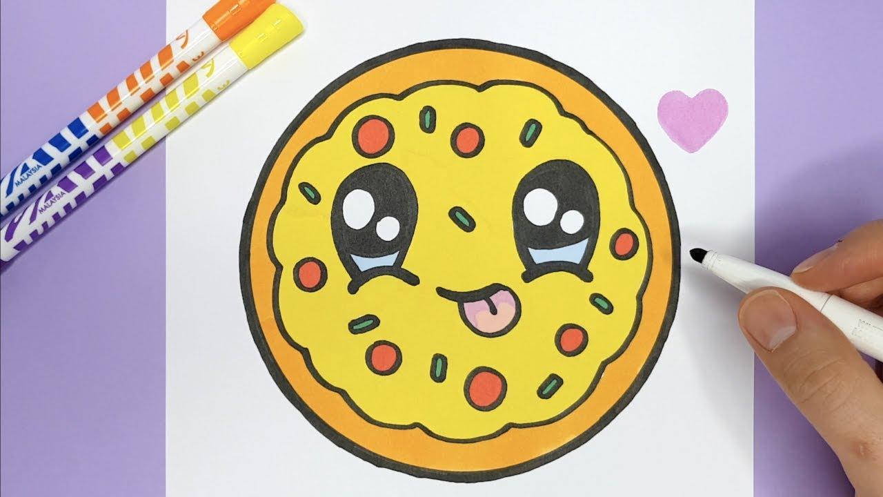 Kawaii Pizza Zeichnen Und Malen Kawaii Bilder