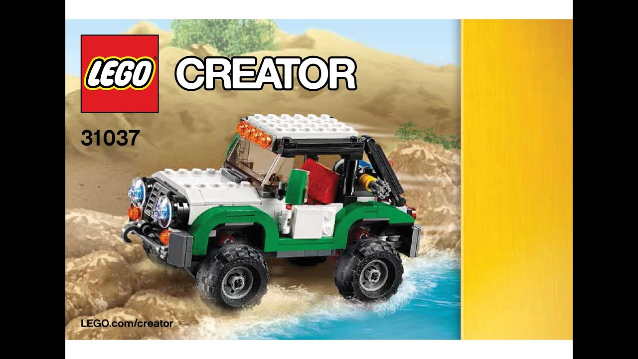 Lego 31037 Adventure Vehicles Offroader Instructions Lego Creator 3