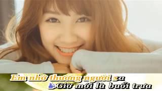 Karaoke - Hai Phương Trời Một Nỗi Nhớ - CongNgo mời FT. Thiếu Nữ