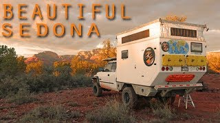 EP:08 BOONDOCKING in SEDONA 4x4 TRUCK CAMPER - Montezuma Castle