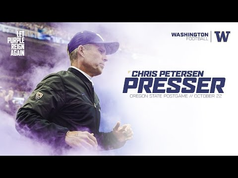 Chris Petersen Postgame Press Conference: Oregon State