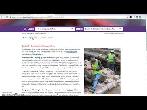 How to Log In and Use the Online Text Book  Social Studies