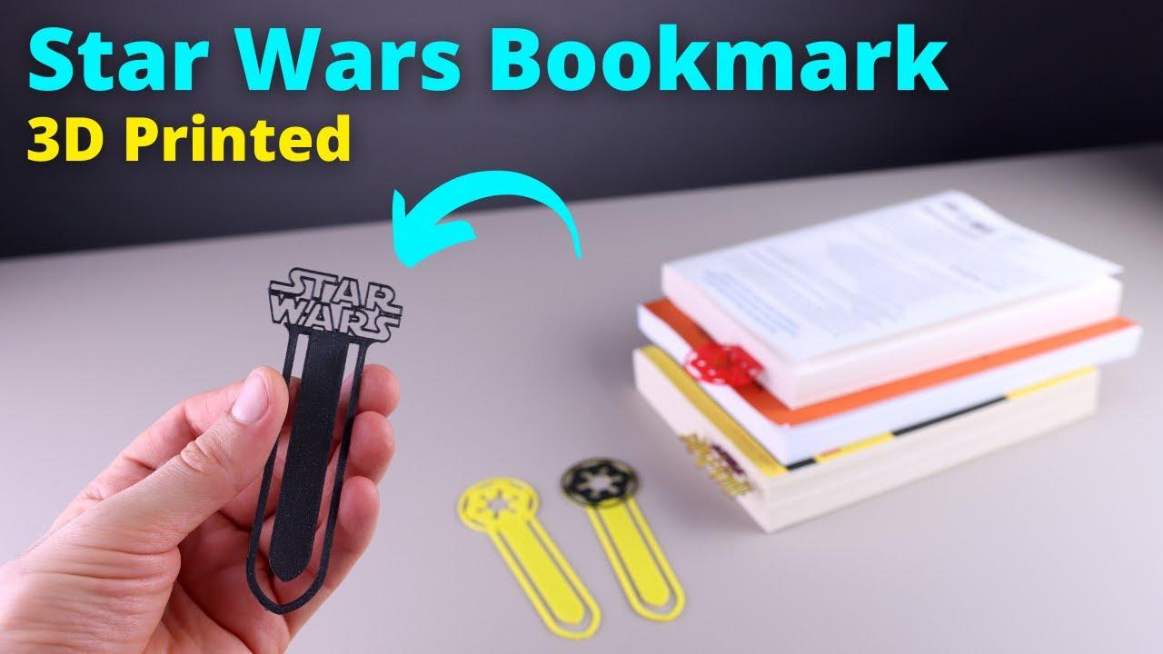 3D Printed Star Wars Bookmark (back to school functional 3d prints)