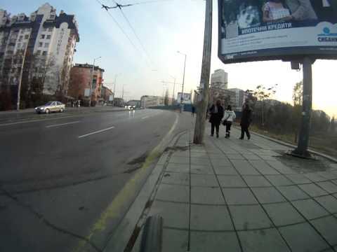Riding in Sofia 20.11.2011 (Bar cam)