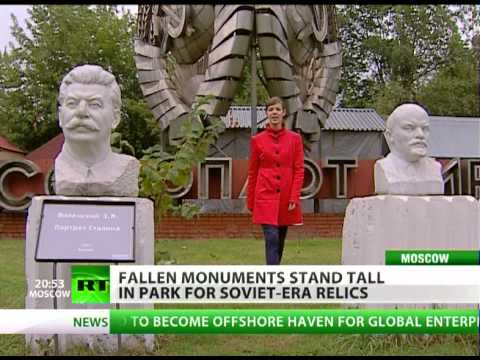 Fallen monuments stand tall in park of Soviet-era relics