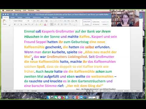 Capital letters in German  -  an introduction