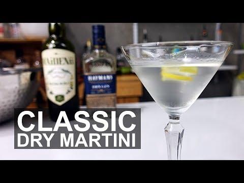 Classic Dry Gin Martini Cocktail Recipe
