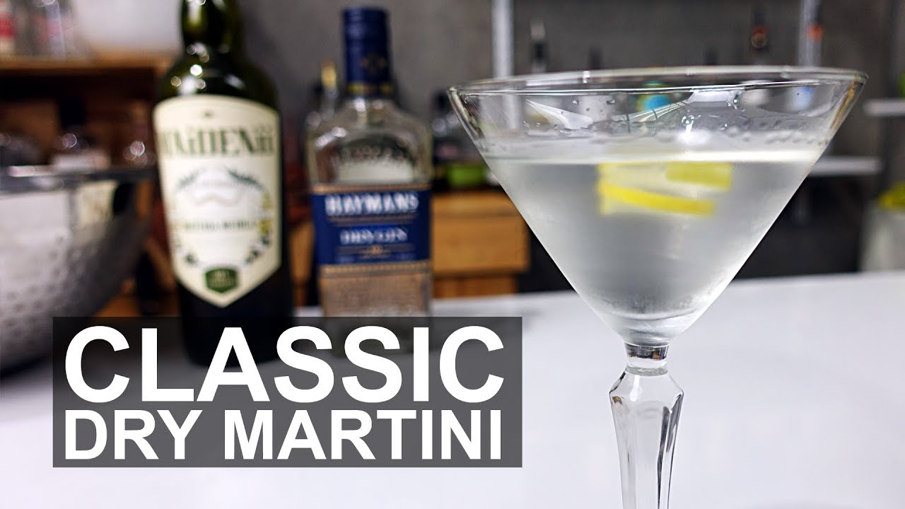classic dry gin martini cocktail recipe youtube