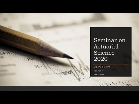 Actuarial Seminar 2020    Correct Order to Appear Actuarial Exams   New Admission Criteria