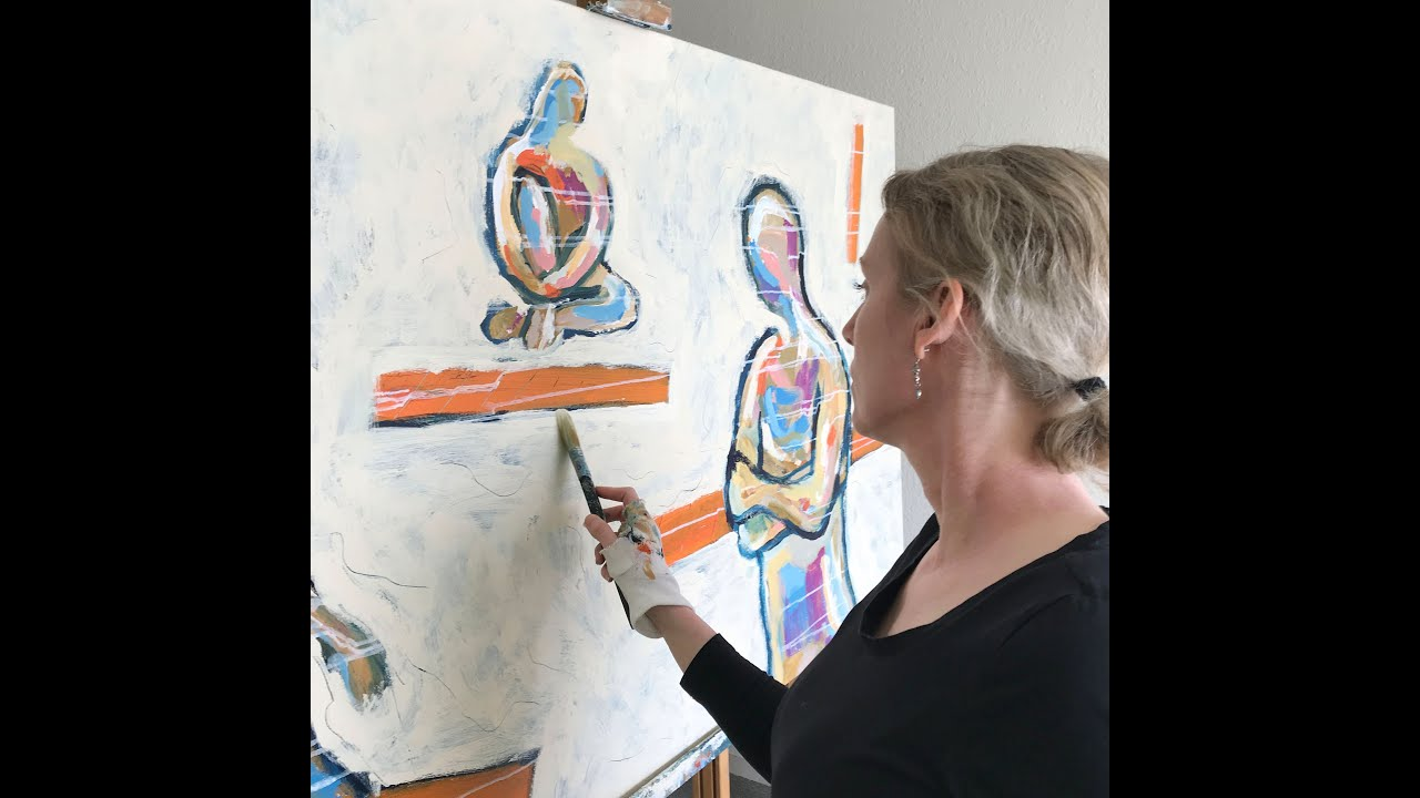 Diptych by Eva van den Hamsvoort about Social distance