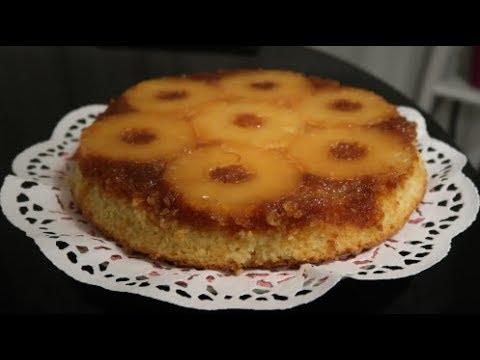 gâteau-renversé-à-l'ananas-facile-et-réussi