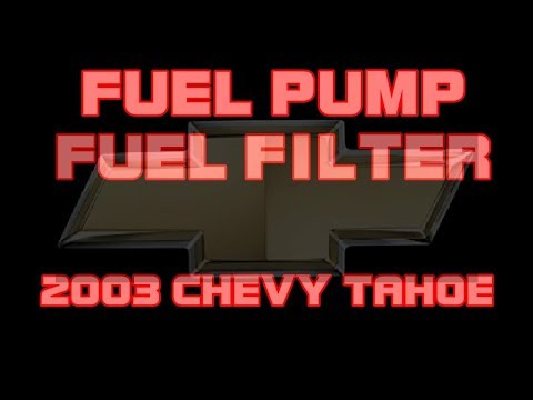 2006 Chevy Tahoe Fuel Filter Wiring Diagram