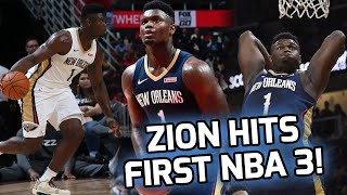 Zion Williamson Splashes His FIRST NBA 3 BALL! Pelicans Win On CONTROVERSIAL GAME WINNER! 😱